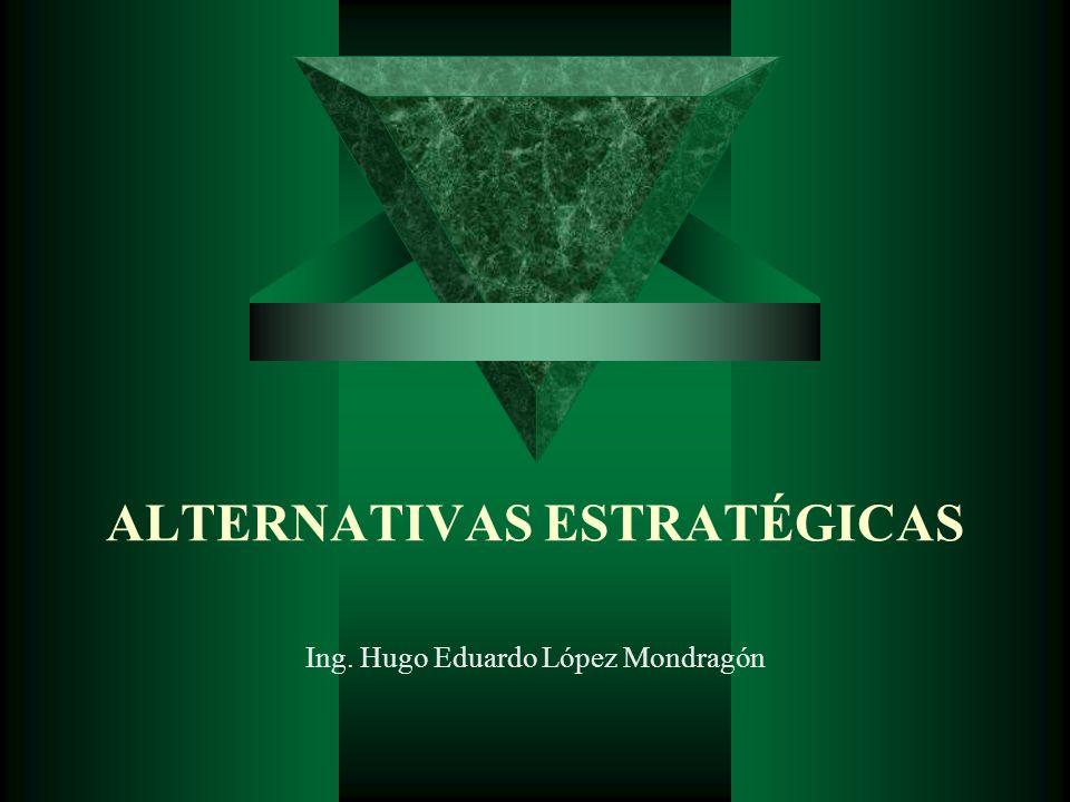 ALTERNATIVAS ESTRATÉGICAS Ing. Hugo Eduardo López Mondragón