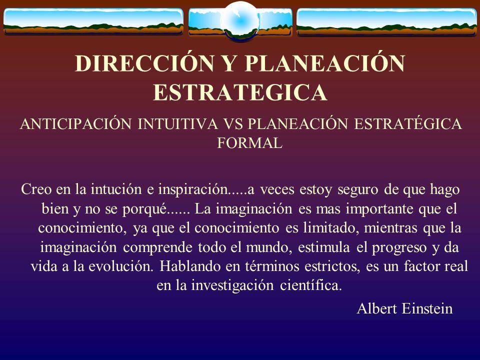 Formalidad e informalidad en PE PLANEACIÓN ESTRATÉGICA DE LA ALTA DIRECCIÓN PROGRAMACIÓN A MEDIANO PLAZO PLANEACIÓN TÁCTICA A CORTO PLAZO CONTROL PARA ASEGURAR LA CONFORMIDAD CON LOS PLANES INFORMALIDAD ------------------------FORMALIDAD-----------------------INFORMALIDAD