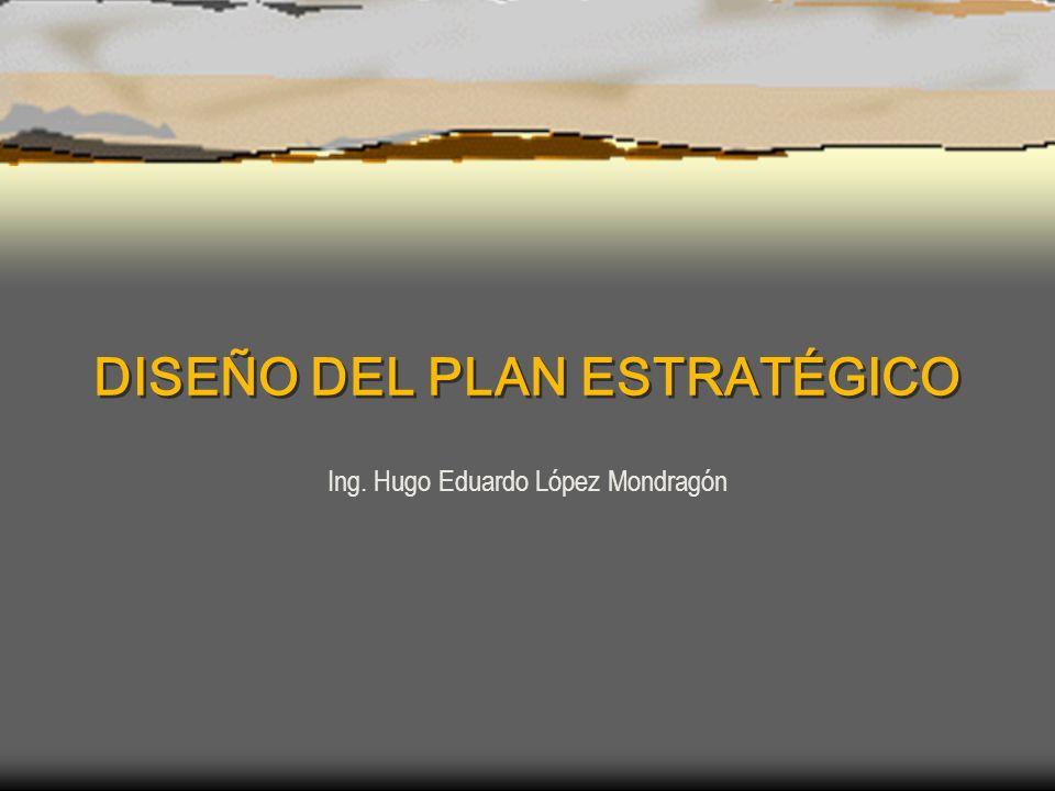 DISEÑO DEL PLAN ESTRATÉGICO Ing. Hugo Eduardo López Mondragón