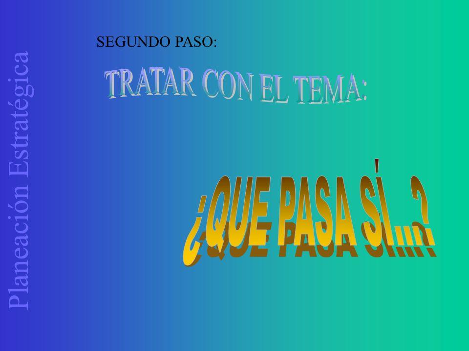 Planeación Estratégica SEGUNDO PASO:
