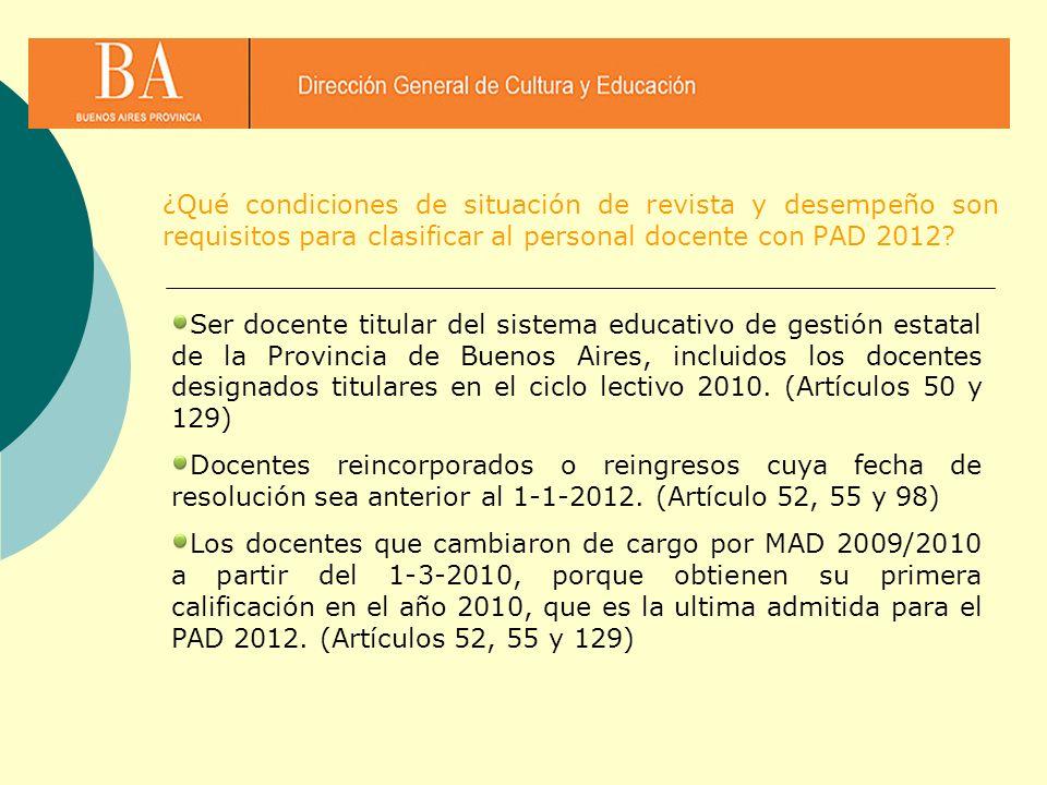 Ser docente titular del sistema educativo de gestión estatal de la Provincia de Buenos Aires, incluidos los docentes designados titulares en el ciclo
