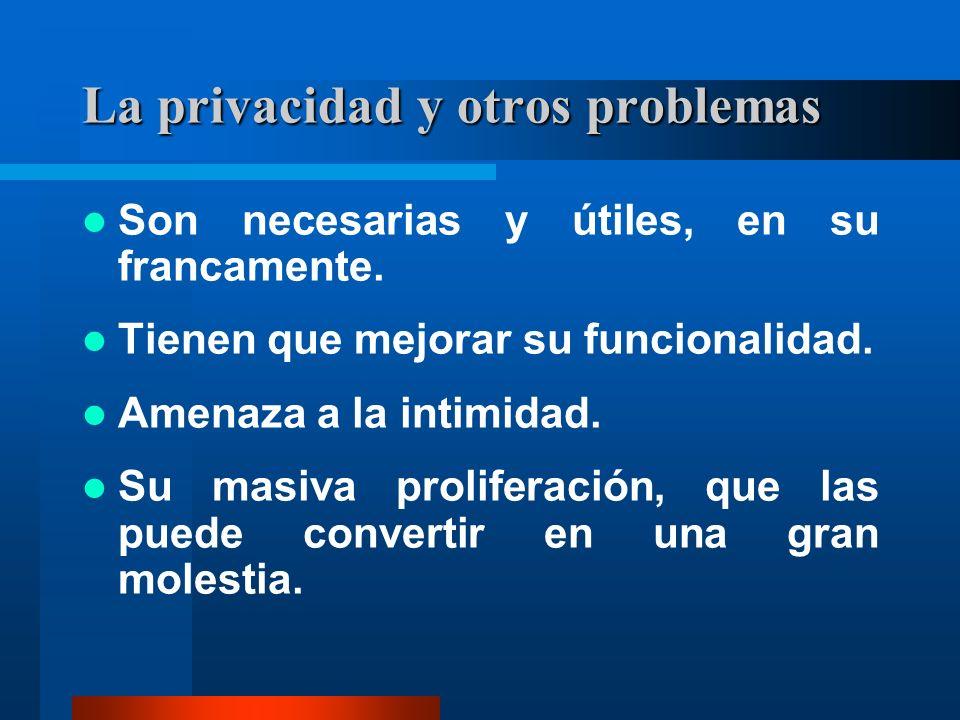 La privacidad y otros problemas Son necesarias y útiles, en su francamente.