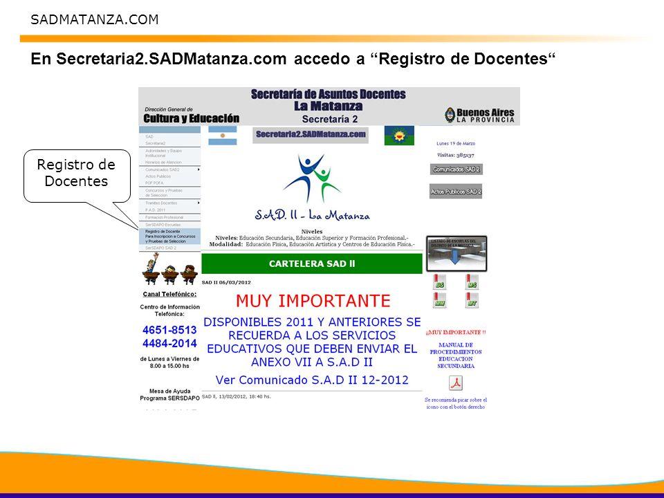 SADMATANZA.COM Situación de Revista Carga Listado