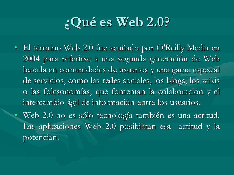 ¿Qué es Web 2.0.