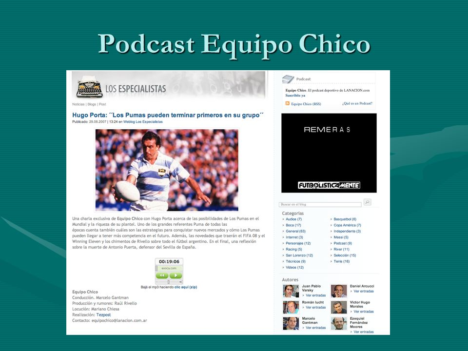 Podcast Equipo Chico