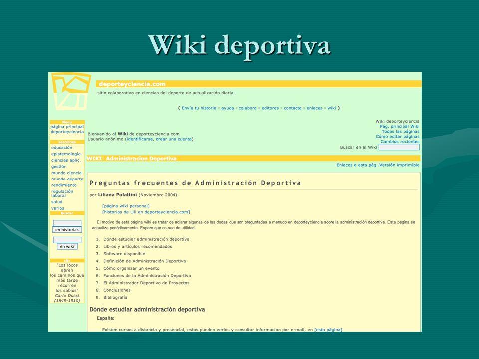 Wiki deportiva