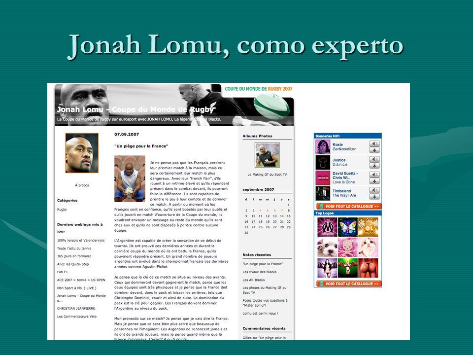 Jonah Lomu, como experto