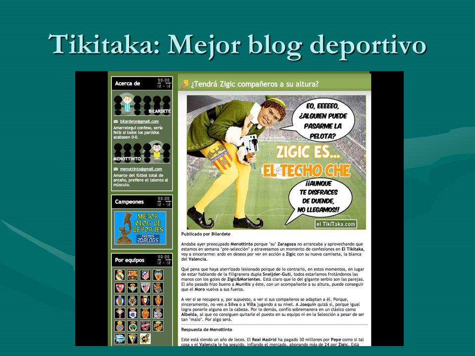 Tikitaka: Mejor blog deportivo
