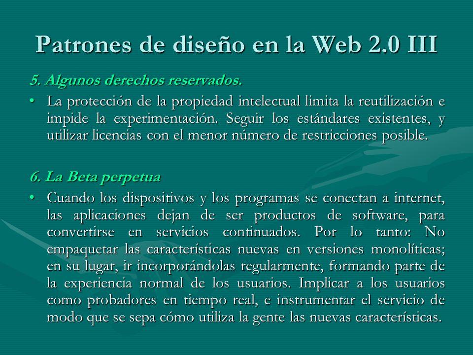 Patrones de diseño en la Web 2.0 III 5. Algunos derechos reservados.