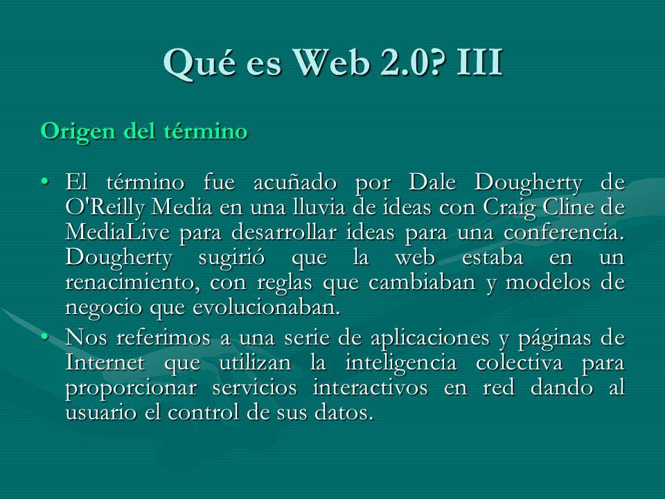 Qué es Web 2.0.