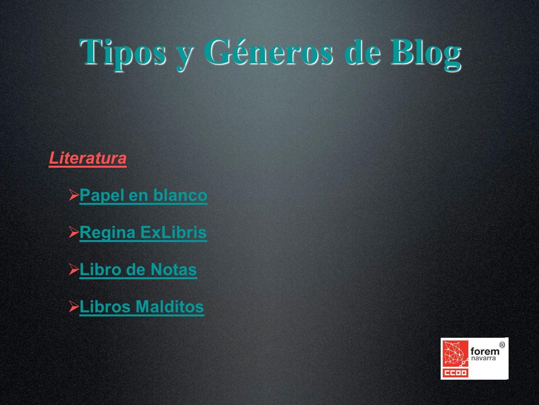 Literatura Papel en blanco Regina ExLibris Libro de Notas Libros Malditos Tipos y Géneros de Blog