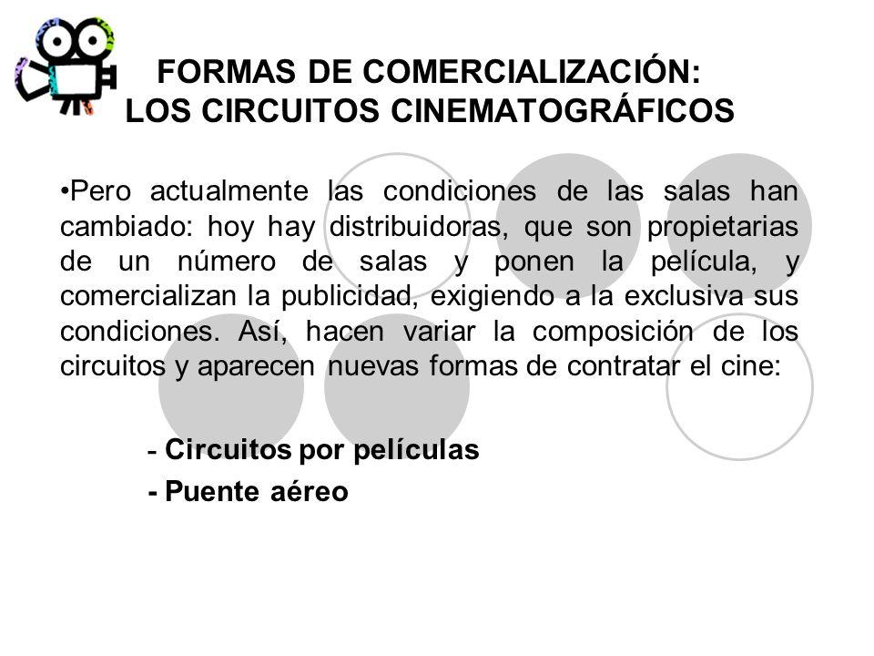 Pero actualmente las condiciones de las salas han cambiado: hoy hay distribuidoras, que son propietarias de un número de salas y ponen la película, y