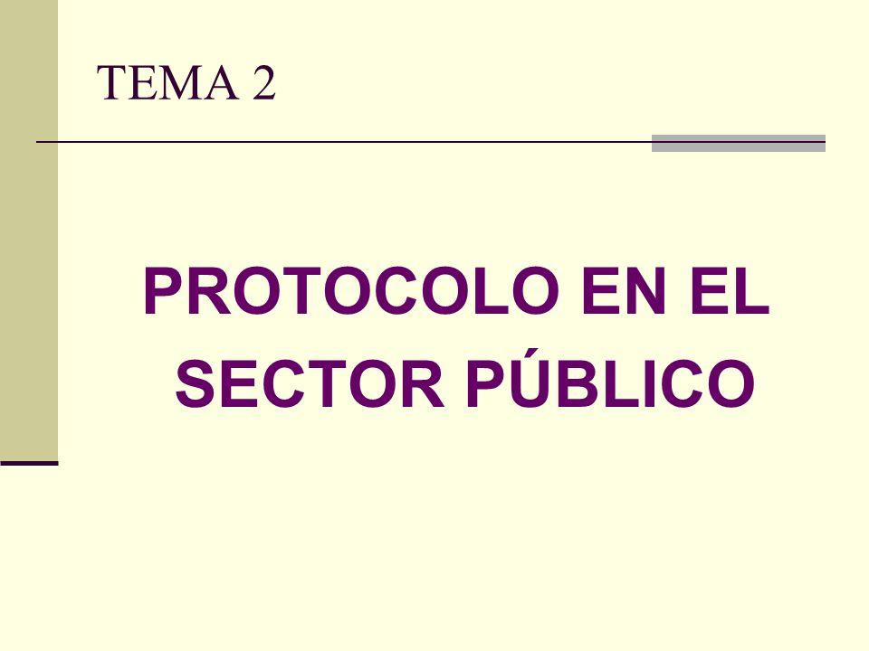TEMA 2 PROTOCOLO EN EL SECTOR PÚBLICO