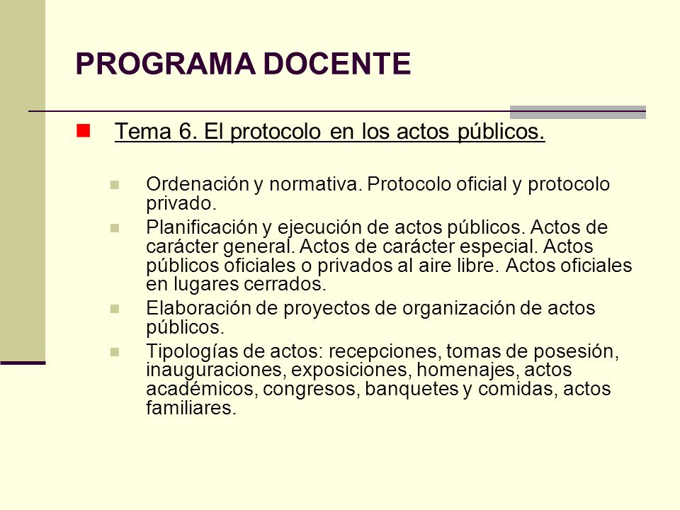PROTOCOLO Prof.Francisco Muñoz Romero Dto.