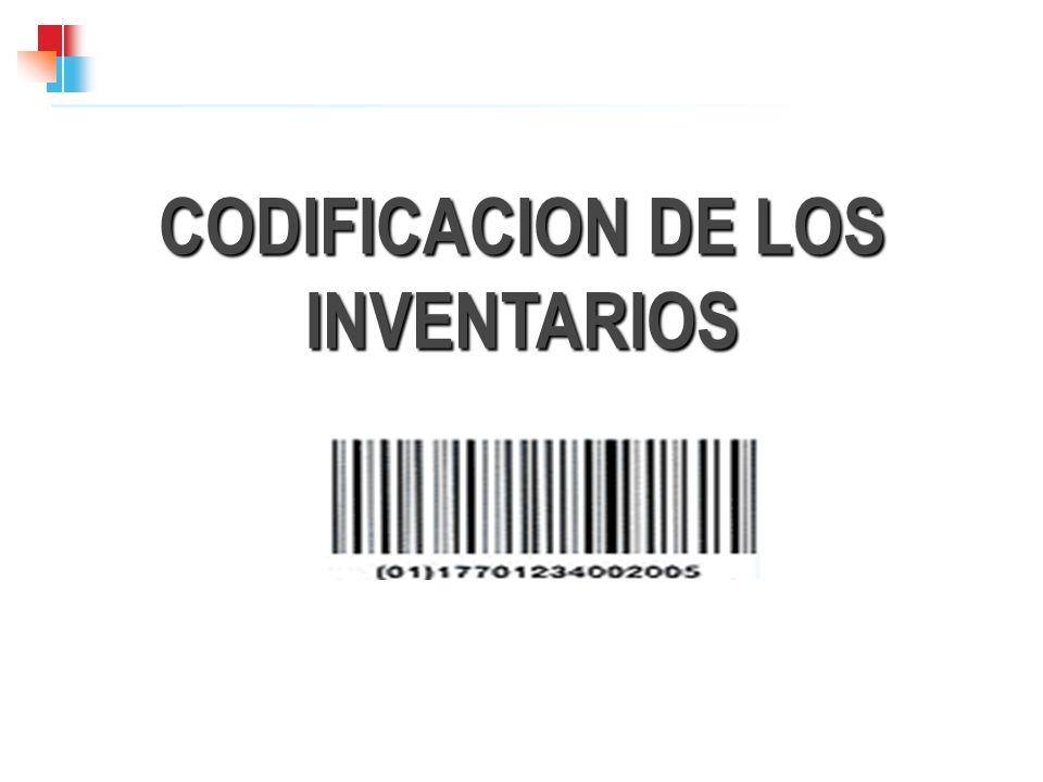 CODIFICACION DE LOS INVENTARIOS
