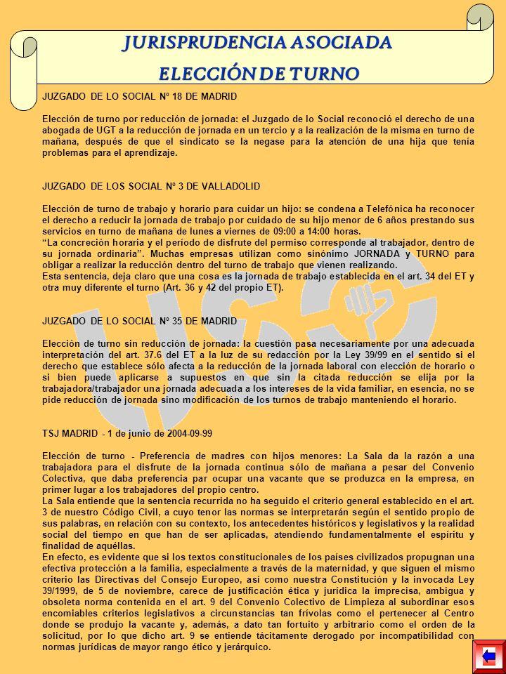 JUZGADO DE LO SOCIAL Nº 18 DE MADRID Elección de turno por reducción de jornada: el Juzgado de lo Social reconoció el derecho de una abogada de UGT a