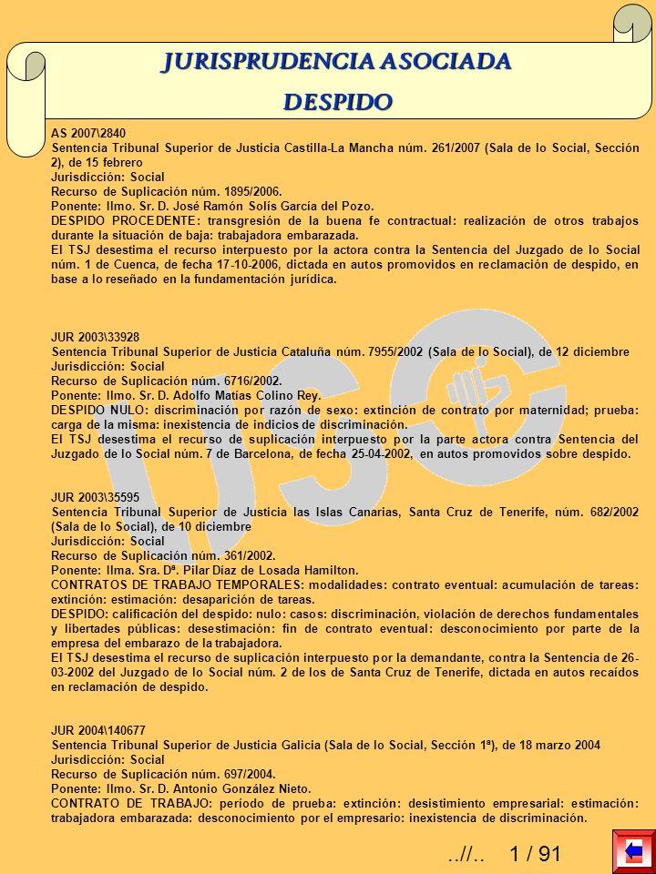 AS 2007\2840 Sentencia Tribunal Superior de Justicia Castilla-La Mancha núm. 261/2007 (Sala de lo Social, Sección 2), de 15 febrero Jurisdicción: Soci