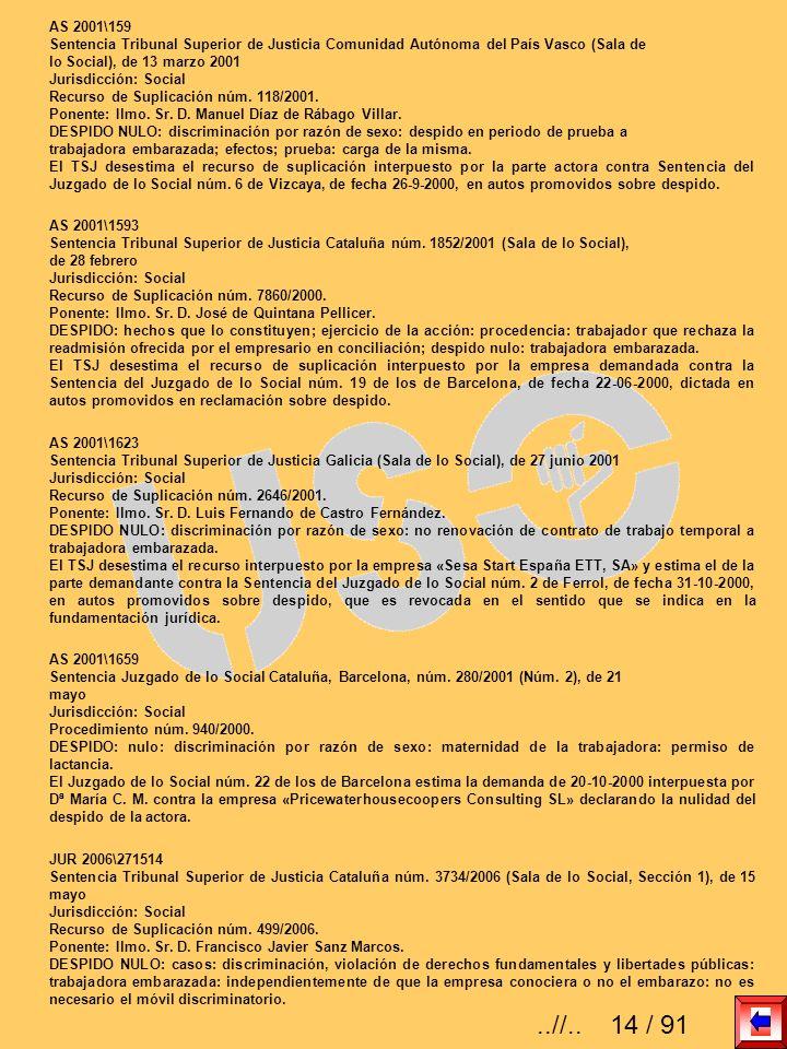 AS 2001\159 Sentencia Tribunal Superior de Justicia Comunidad Autónoma del País Vasco (Sala de lo Social), de 13 marzo 2001 Jurisdicción: Social Recur
