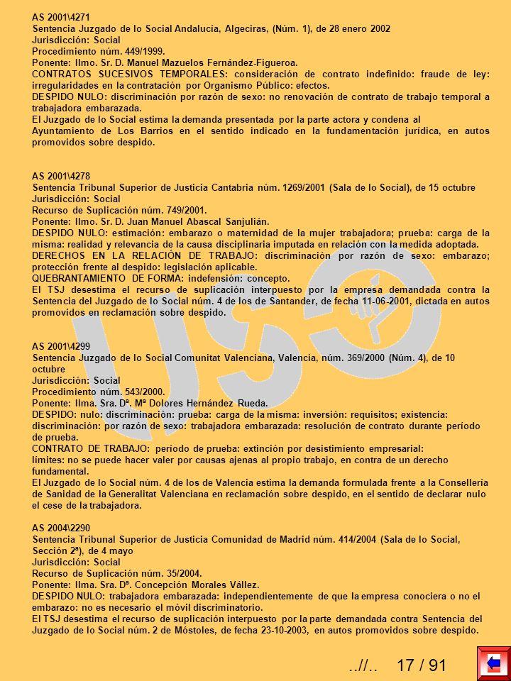 AS 2001\4271 Sentencia Juzgado de lo Social Andalucía, Algeciras, (Núm. 1), de 28 enero 2002 Jurisdicción: Social Procedimiento núm. 449/1999. Ponente