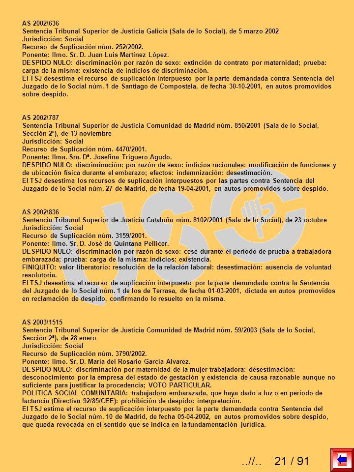 AS 2002\636 Sentencia Tribunal Superior de Justicia Galicia (Sala de lo Social), de 5 marzo 2002 Jurisdicción: Social Recurso de Suplicación núm. 252/