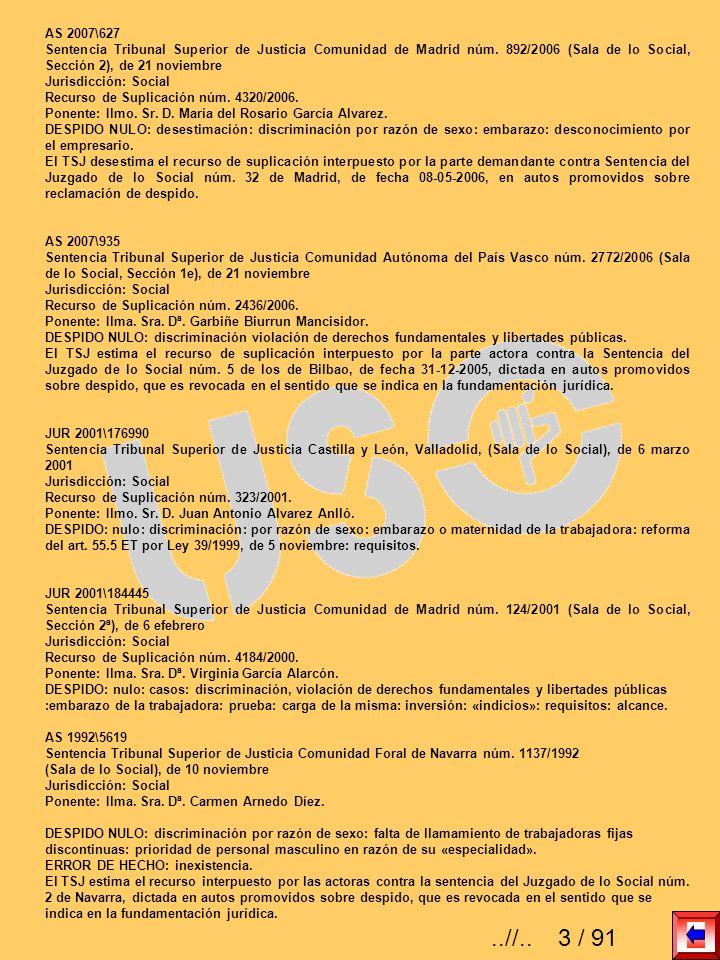 AS 2007\627 Sentencia Tribunal Superior de Justicia Comunidad de Madrid núm. 892/2006 (Sala de lo Social, Sección 2), de 21 noviembre Jurisdicción: So