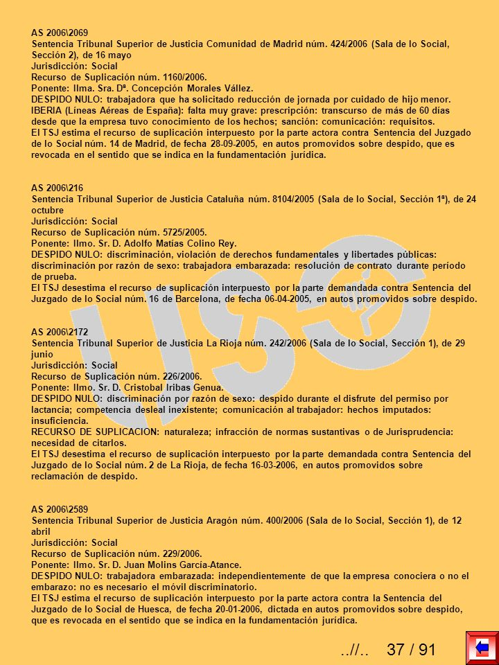 AS 2006\2069 Sentencia Tribunal Superior de Justicia Comunidad de Madrid núm. 424/2006 (Sala de lo Social, Sección 2), de 16 mayo Jurisdicción: Social