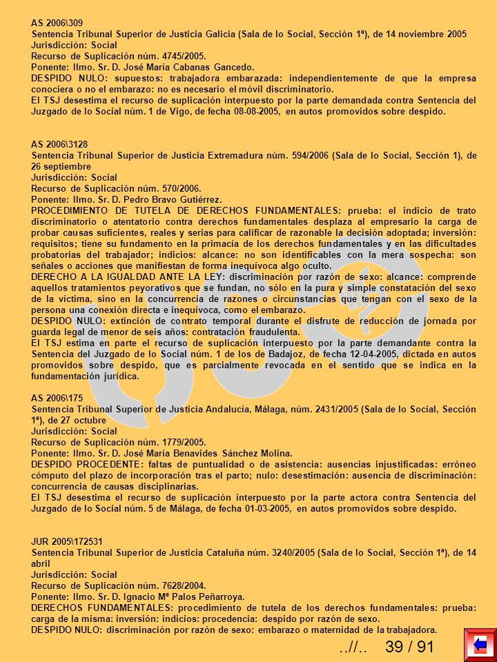 AS 2006\309 Sentencia Tribunal Superior de Justicia Galicia (Sala de lo Social, Sección 1ª), de 14 noviembre 2005 Jurisdicción: Social Recurso de Supl