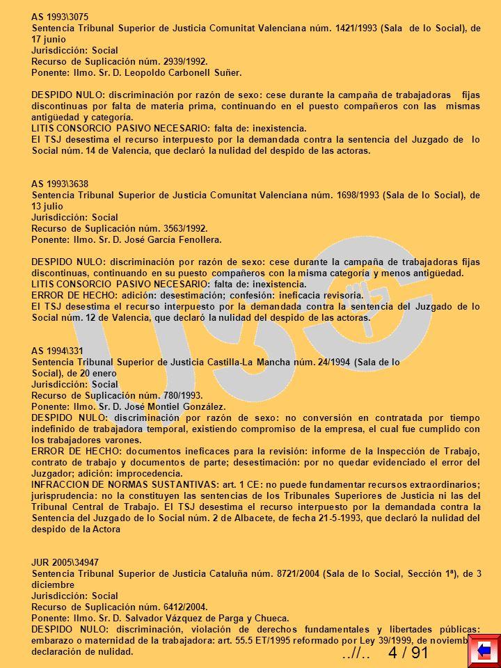 AS 1993\3075 Sentencia Tribunal Superior de Justicia Comunitat Valenciana núm. 1421/1993 (Sala de lo Social), de 17 junio Jurisdicción: Social Recurso