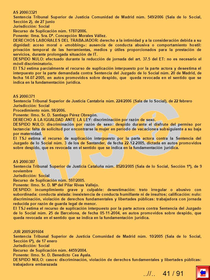 AS 2006\3321 Sentencia Tribunal Superior de Justicia Comunidad de Madrid núm. 549/2006 (Sala de lo Social, Sección 2), de 27 junio Jurisdicción: Socia