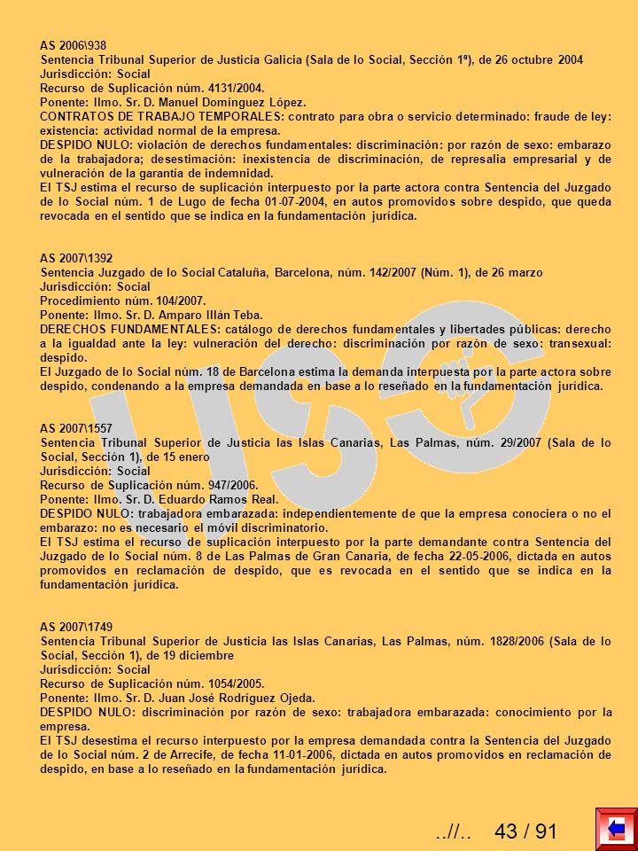 AS 2006\938 Sentencia Tribunal Superior de Justicia Galicia (Sala de lo Social, Sección 1ª), de 26 octubre 2004 Jurisdicción: Social Recurso de Suplic
