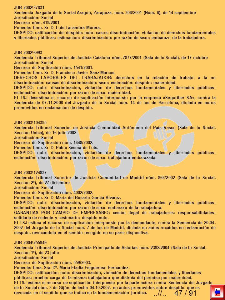 JUR 2002\37831 Sentencia Juzgado de lo Social Aragón, Zaragoza, núm. 306/2001 (Núm. 6), de 14 septiembre Jurisdicción: Social Recurso núm. 419/2001. P