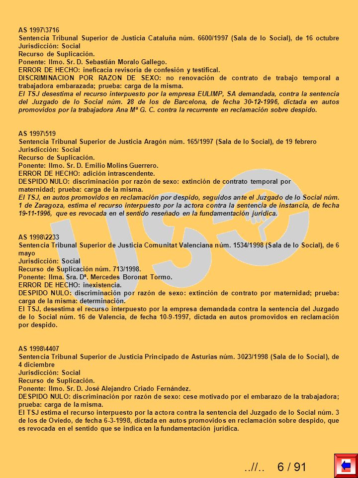 AS 2006\3134 Sentencia Tribunal Superior de Justicia Comunitat Valenciana núm.
