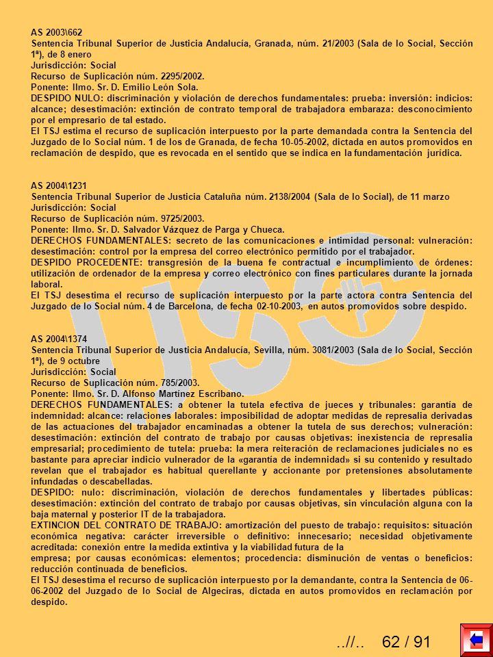 AS 2003\662 Sentencia Tribunal Superior de Justicia Andalucía, Granada, núm. 21/2003 (Sala de lo Social, Sección 1ª), de 8 enero Jurisdicción: Social