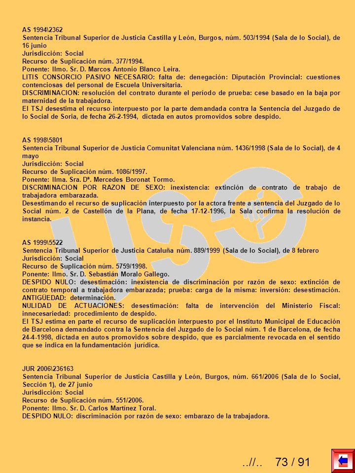 AS 1994\2362 Sentencia Tribunal Superior de Justicia Castilla y León, Burgos, núm. 503/1994 (Sala de lo Social), de 16 junio Jurisdicción: Social Recu