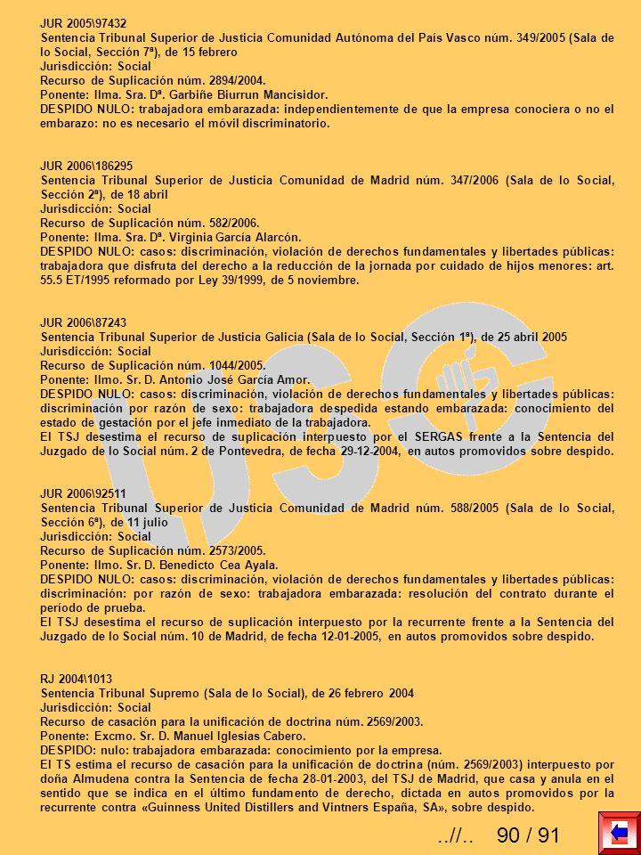 JUR 2005\97432 Sentencia Tribunal Superior de Justicia Comunidad Autónoma del País Vasco núm. 349/2005 (Sala de lo Social, Sección 7ª), de 15 febrero
