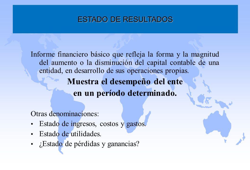 Informe financiero básico que refleja la forma y la magnitud del aumento o la disminución del capital contable de una entidad, en desarrollo de sus op