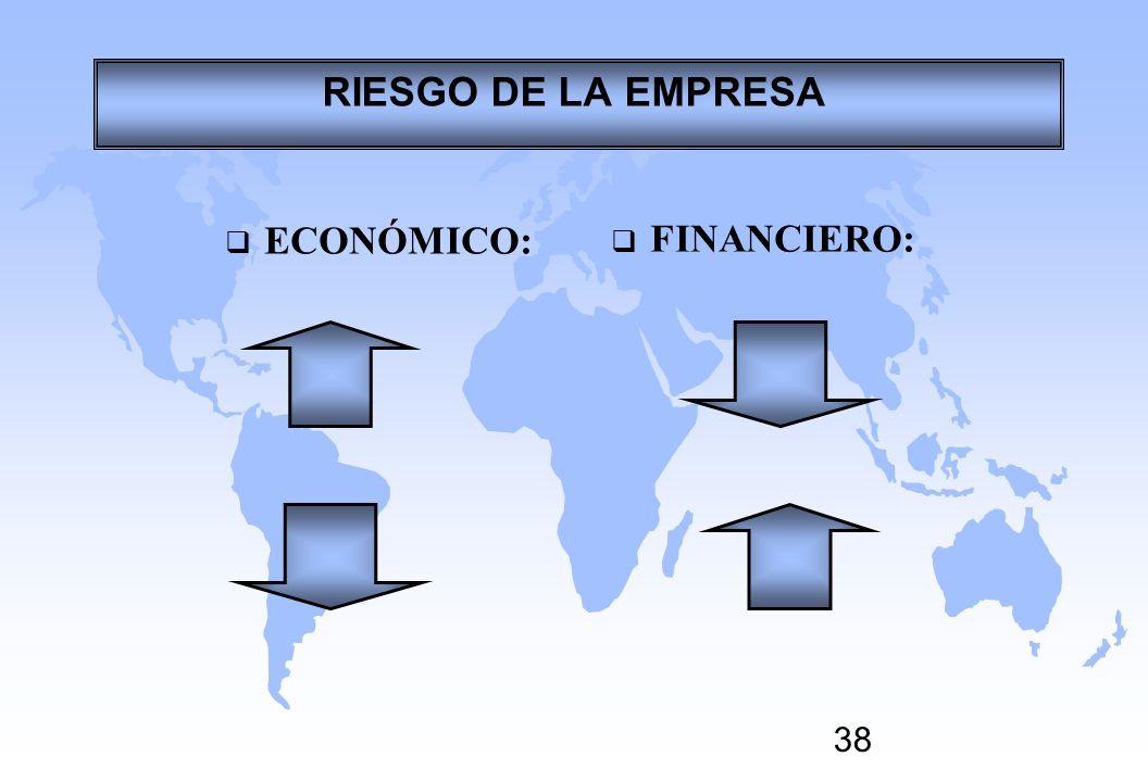 38 ECONÓMICO: FINANCIERO: RIESGO DE LA EMPRESA