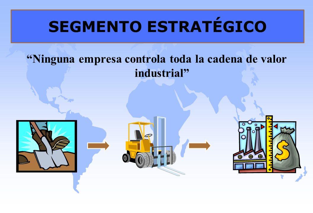 SEGMENTO ESTRATÉGICO Ninguna empresa controla toda la cadena de valor industrial