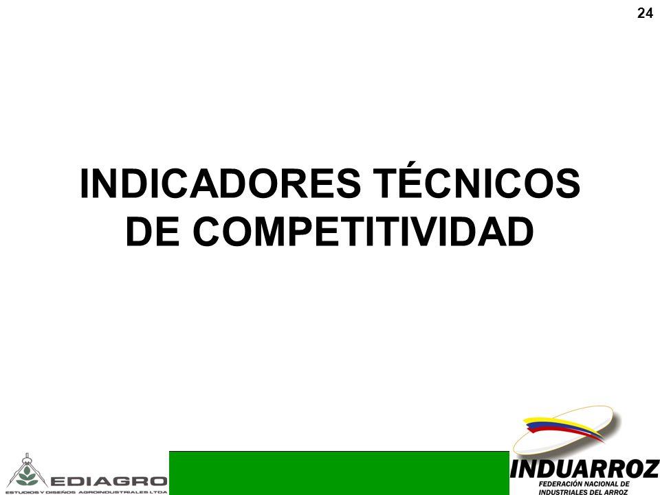 24 INDICADORES TÉCNICOS DE COMPETITIVIDAD