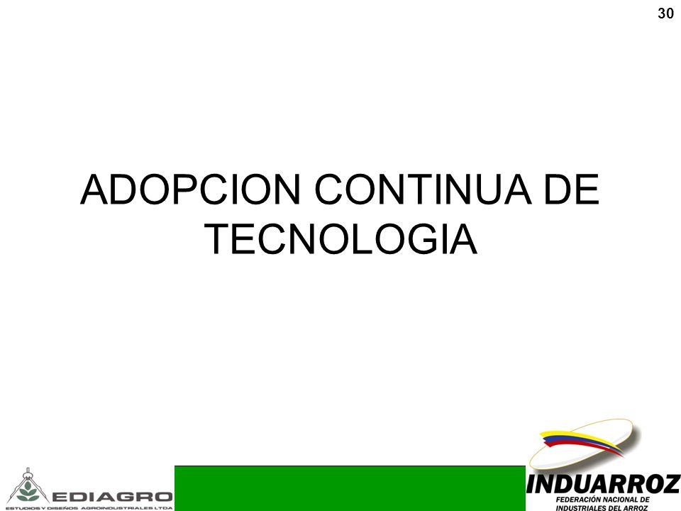 30 ADOPCION CONTINUA DE TECNOLOGIA