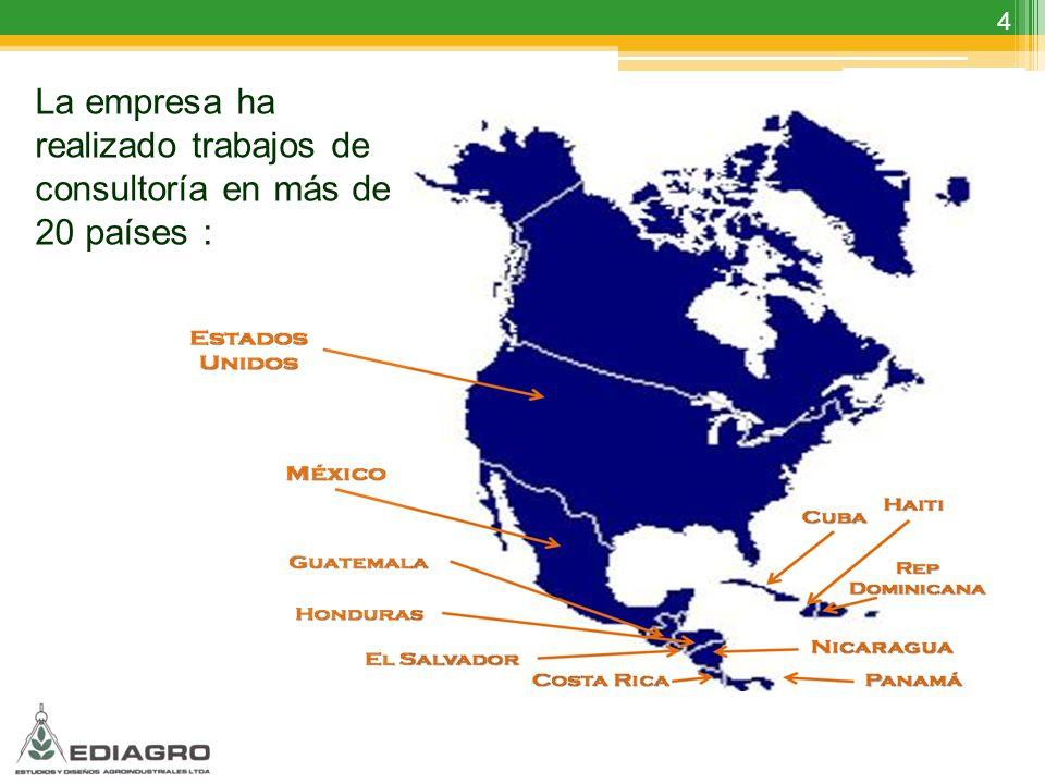 4 La empresa ha realizado trabajos de consultoría en más de 20 países :