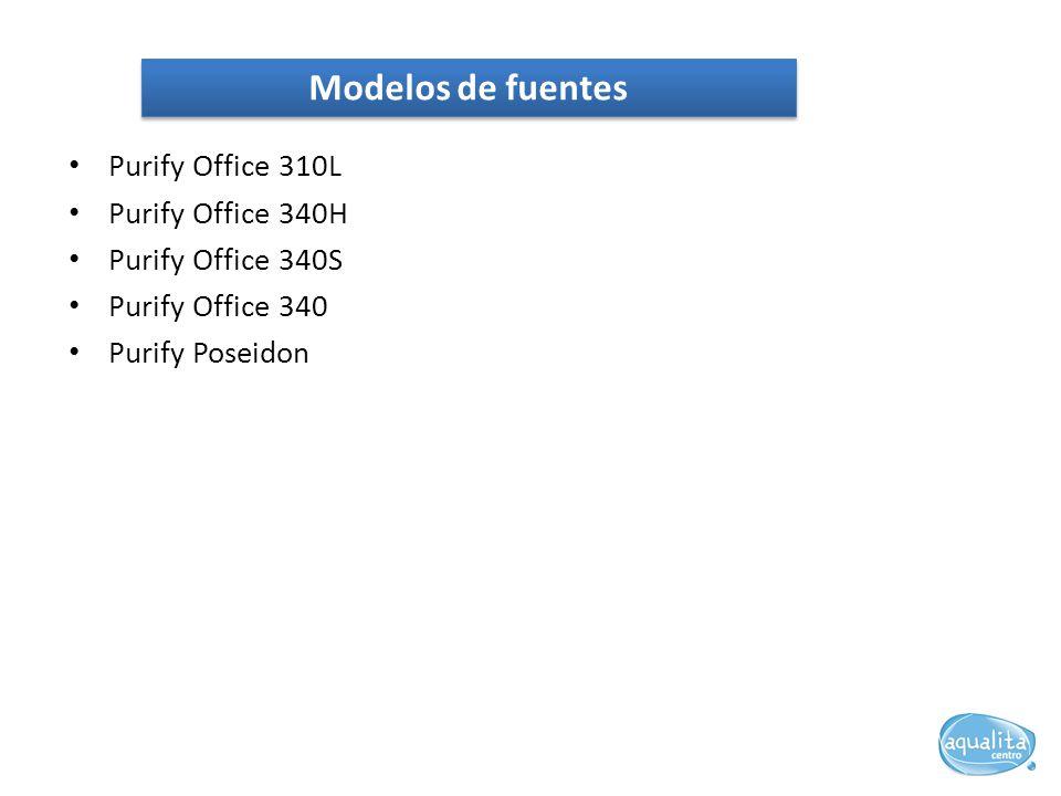 Purify Office 310L Purify Office 340H Purify Office 340S Purify Office 340 Purify Poseidon Modelos de fuentes
