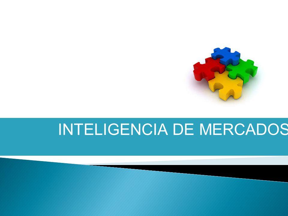 OBJETIVOS ESPECÍFICOS Definir los elementos que contiene una inteligencia de mercados.