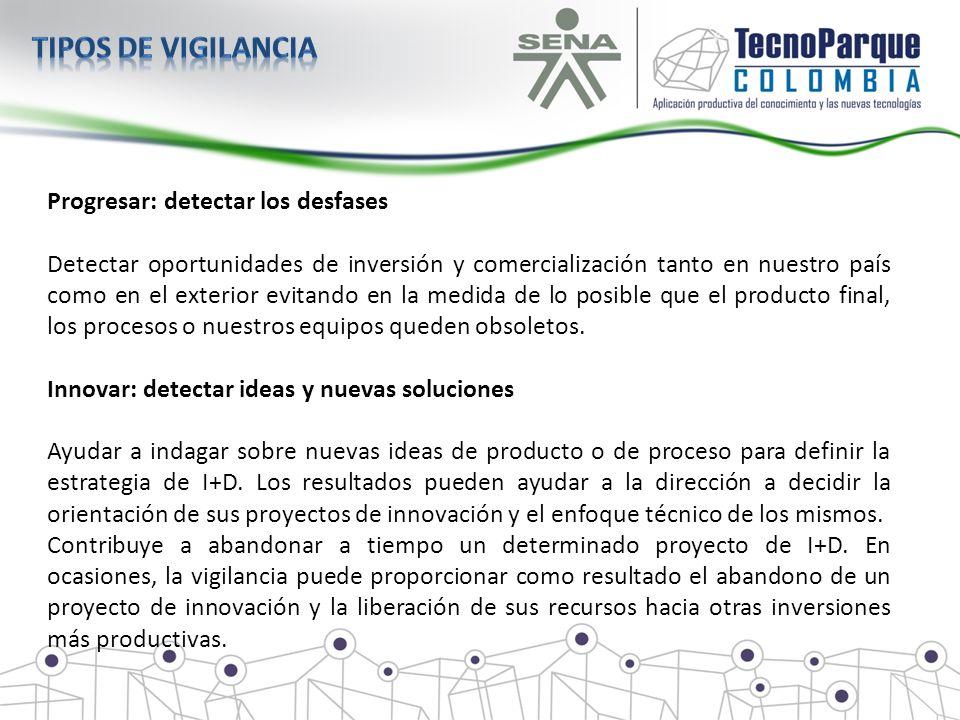 Progresar: detectar los desfases Detectar oportunidades de inversión y comercialización tanto en nuestro país como en el exterior evitando en la medid