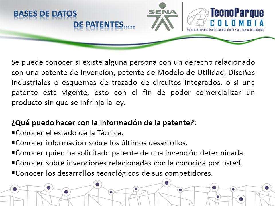 Se puede conocer si existe alguna persona con un derecho relacionado con una patente de invención, patente de Modelo de Utilidad, Diseños Industriales