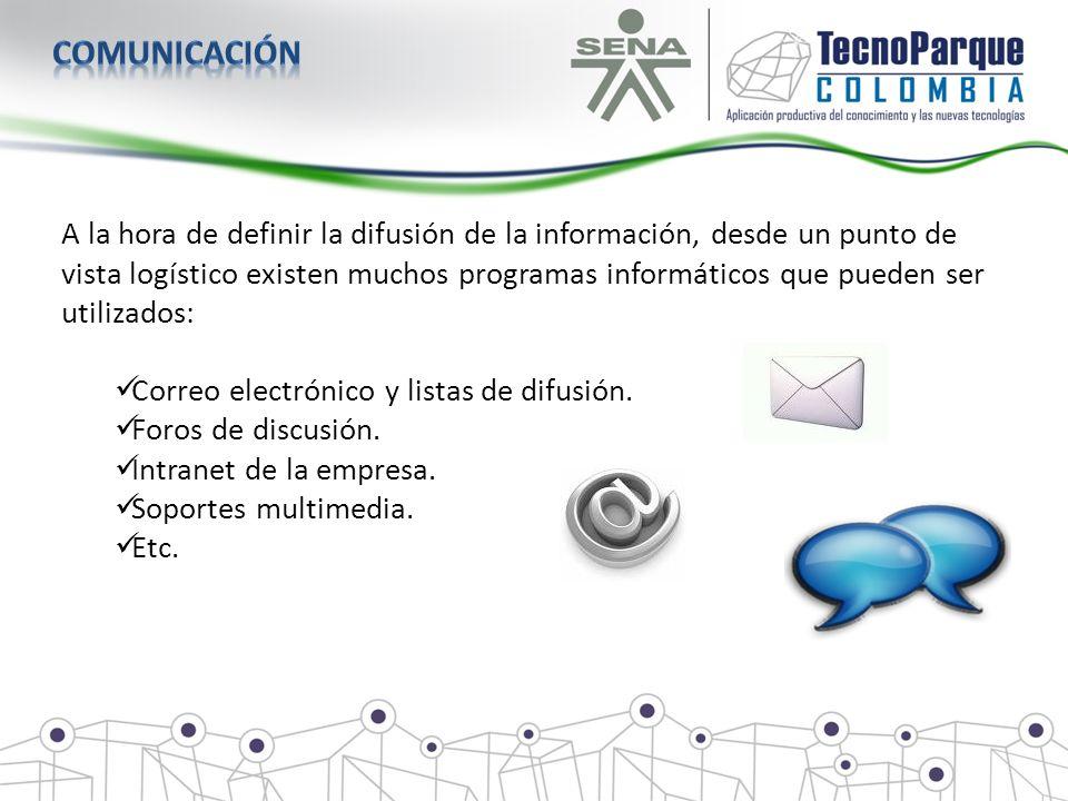 A la hora de definir la difusión de la información, desde un punto de vista logístico existen muchos programas informáticos que pueden ser utilizados: