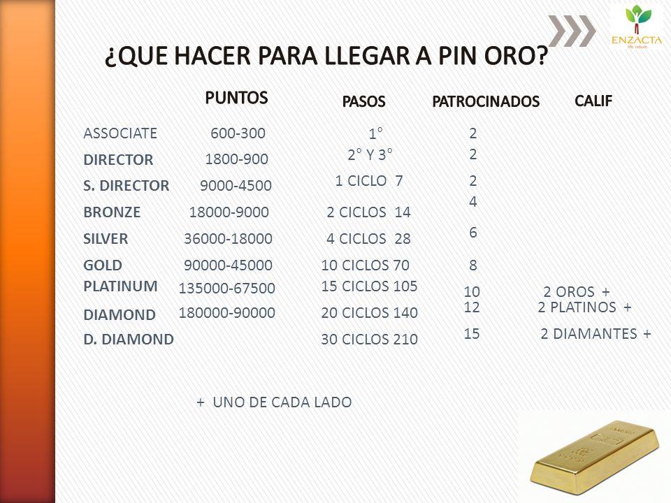 ASSOCIATE DIRECTOR 9000-4500 S. DIRECTOR BRONZE SILVER GOLD PLATINUM DIAMOND D.