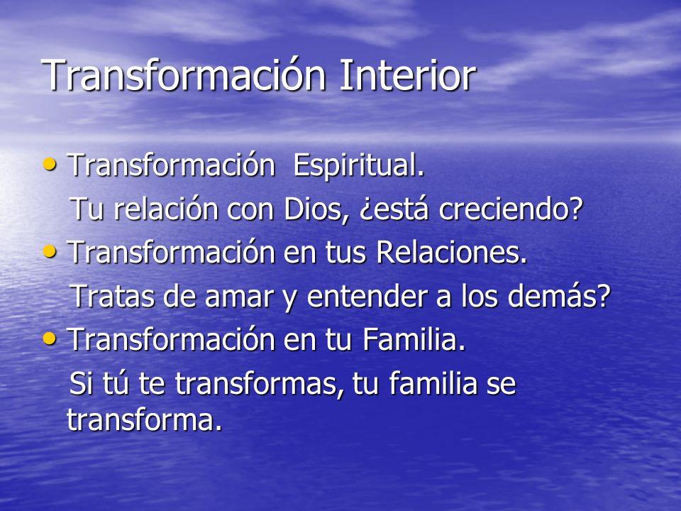 Transformación Interior Transformación Espiritual. Transformación Espiritual. Tu relación con Dios, ¿está creciendo? Tu relación con Dios, ¿está creci