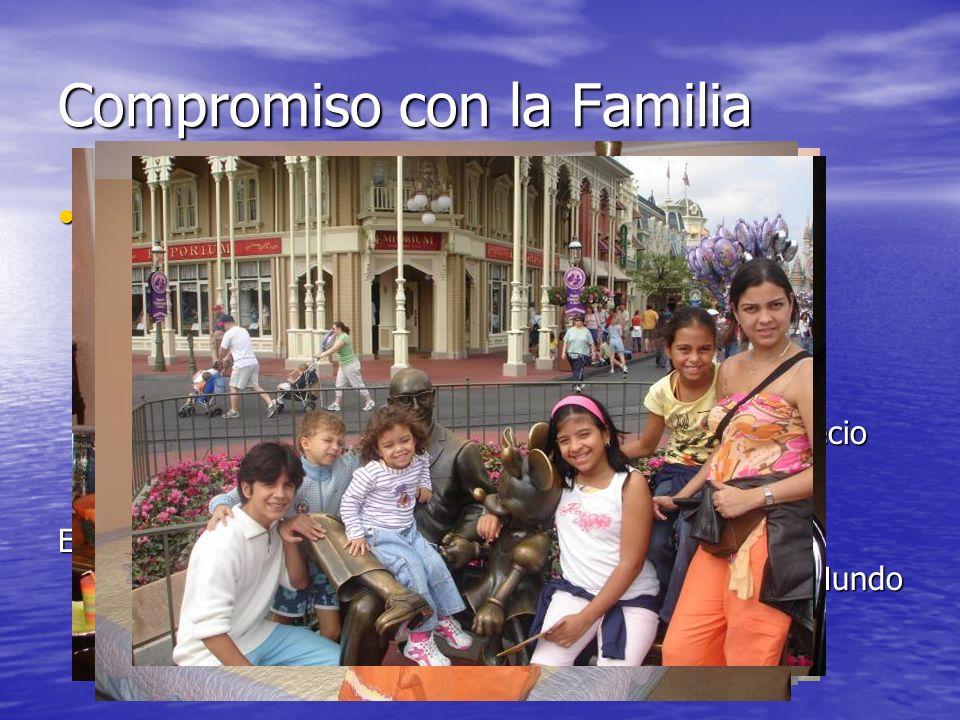 Compromiso con la Familia Tu determinas como tratas a tú familia. Tu determinas como tratas a tú familia. - Recuerda que hay familia que te derrumba y