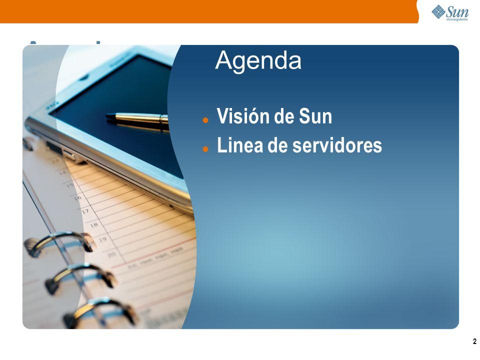 2 Agenda Visión de Sun Linea de servidores